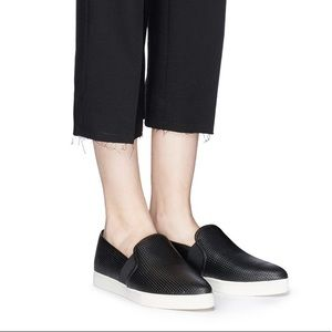 Vince Pierce perforated leather slip on sneakers